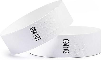 Confezione da 100 Braccialetti di identificazione Tyvek/® 19 mm linie zwo/® Giallo Neon