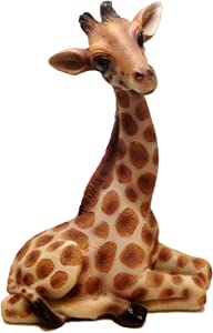 "Ebros Gift 10"" Tall Safari Giraffe Wildlife Figurine 'High Hopes' Realistic Young Animal Decor Statue"