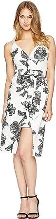93375381e2 Bebe womens 70464B Bebe Floral Bodycon Dress for Women - White ...