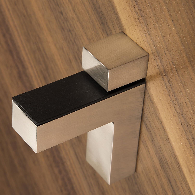 45 mm St/ärke 4 St/ück SO-TECH/® Regalbodenhalter HULK Edelstahloptik Glasbodentr/äger Bodentr/äger f/ür Glas und Holzb/öden bis max