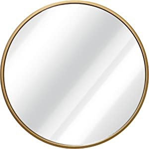 HBCY Creations Circle Wall Mirror Inch Round Wall Mirror for Entryways, Washrooms, Living Rooms and More (Gold, 16