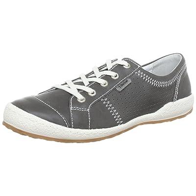 Josef Seibel Womens Caspian Grey Leather Shoes 38 EU   Fashion Sneakers