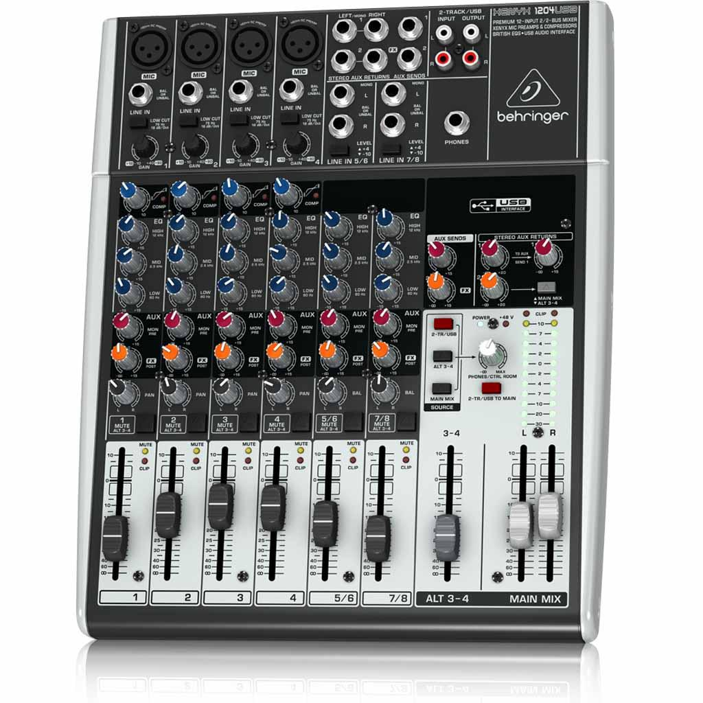 Amazon Com Behringer Xenyx 1204usb 12 Channel Usb Mixer