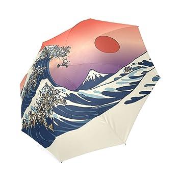 Custom gran ola de Bulldog Inglés compacto plegable Paraguas de Viaje