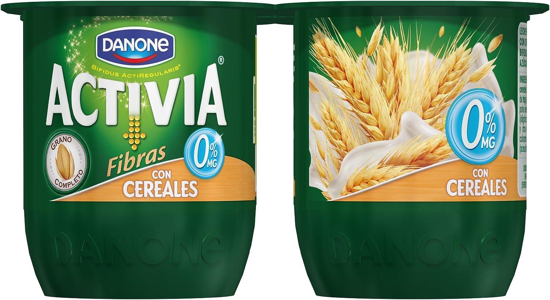 Activia - Yogur Danone Fibras 0% Cereales Pack 4 x 125 g ...