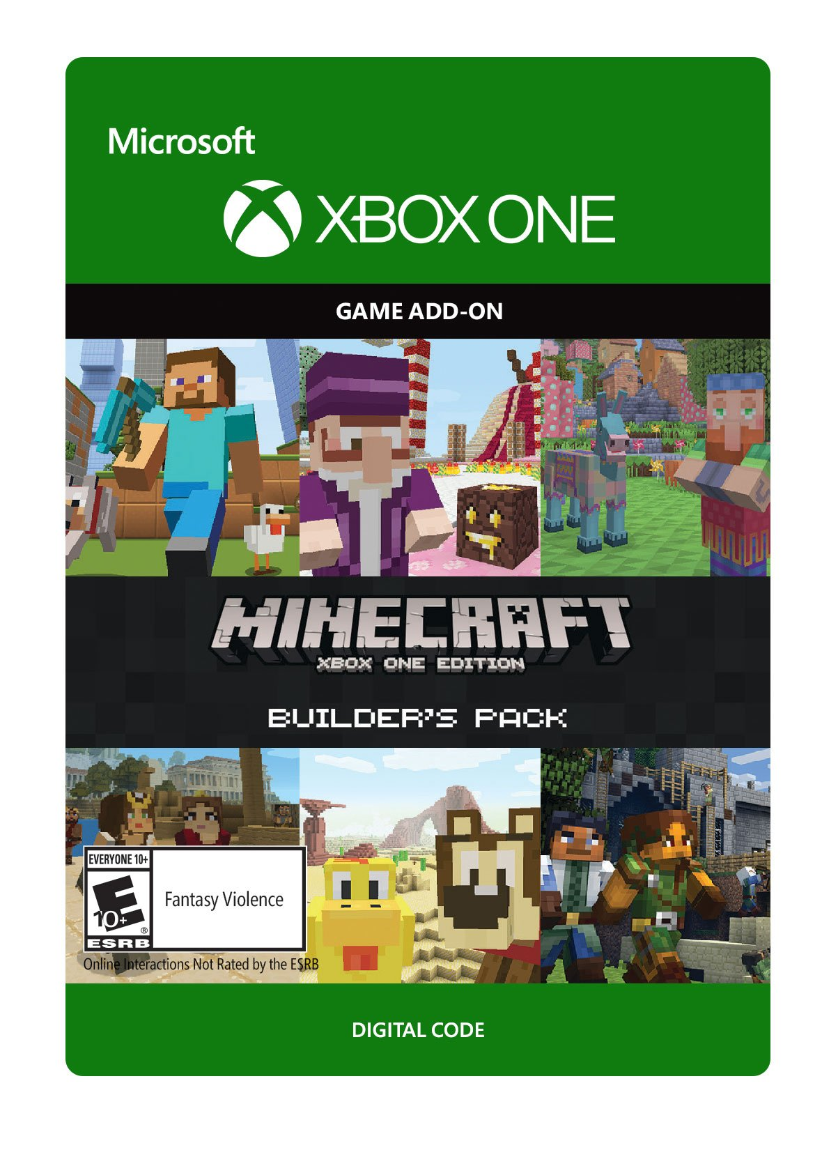 minecraft builder 39 s pack xbox one digital code. Black Bedroom Furniture Sets. Home Design Ideas