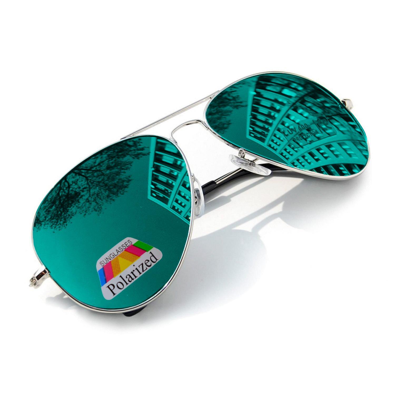 UNISEX (Damen Herren) Aviator polarisierten polarized grün Sonnenbrille Vintage Retro Brille SUNGLASSES UV400 Protection Morefaz(TM)