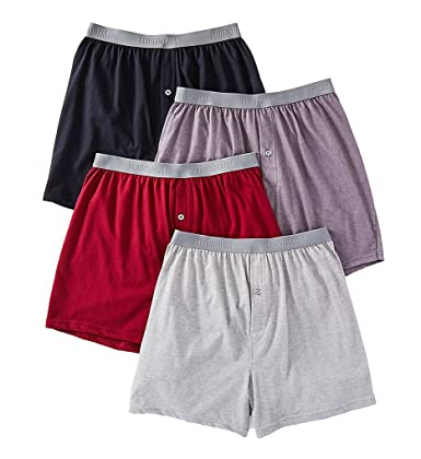 Fruit of the Loom Men's Premium Knit Boxer, Assorted, Large