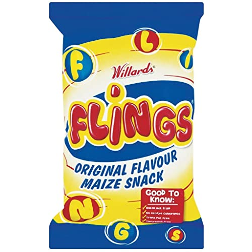 Willards Flings Original Flavour Maize Snack150g - Imported from South Africa chips
