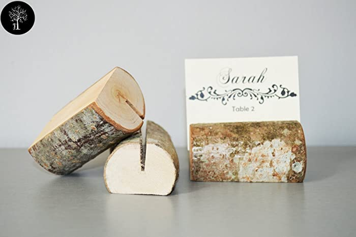 amazon com set of 10 place card holders name card holders rustic