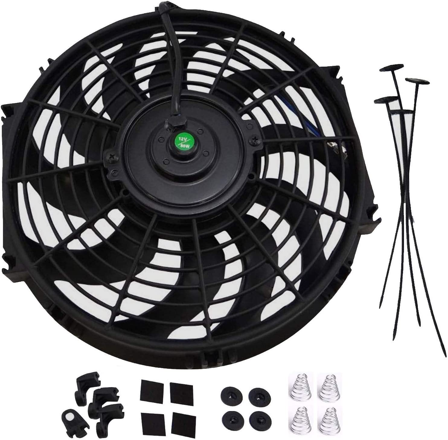 Car Truck 6 inch Universal Electric Cooling Fan 12V Water Oil Radiator Mount Kit