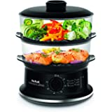Tefal Steam cooker, 900 watts steamer with timer, 6 liter, VC140165