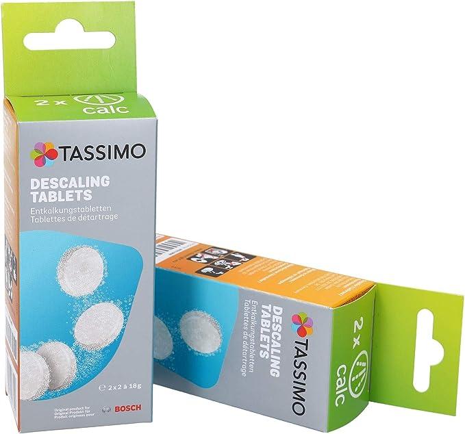 Tassimo Bosch - Pastillas descalcificadoras para cafetera (2 ...