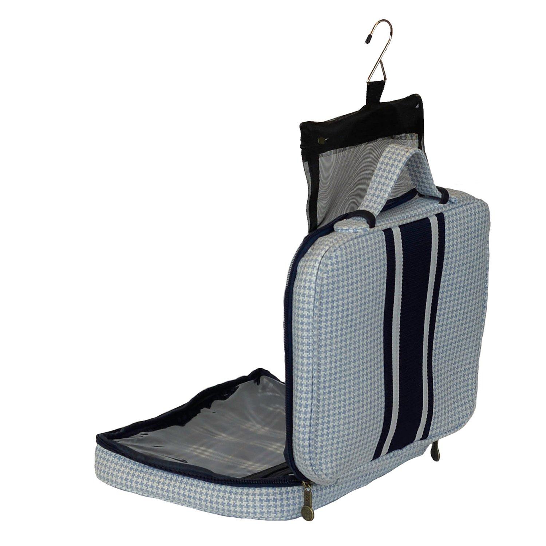 Bellemonde Hanging Toiletry Bag Travel Kit for Men and Women | Washable, Stain-resistant | Timeless Design Toiletry Organizer, Makeup Bag, Cosmetic Bag | Packs Flat 12'' x 10'' x 3.5'' | BL178PB Blue by Bellemonde (Image #5)