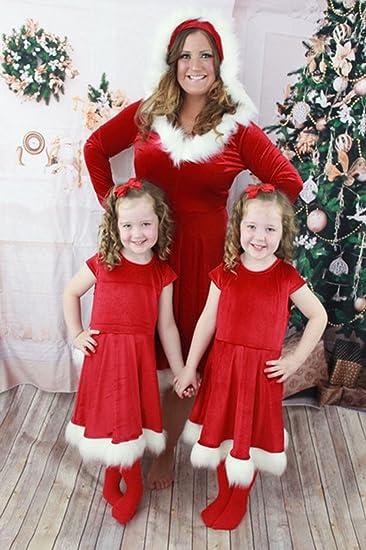 Amazon.com: honganda madre hija vestido de Navidad de Papá ...