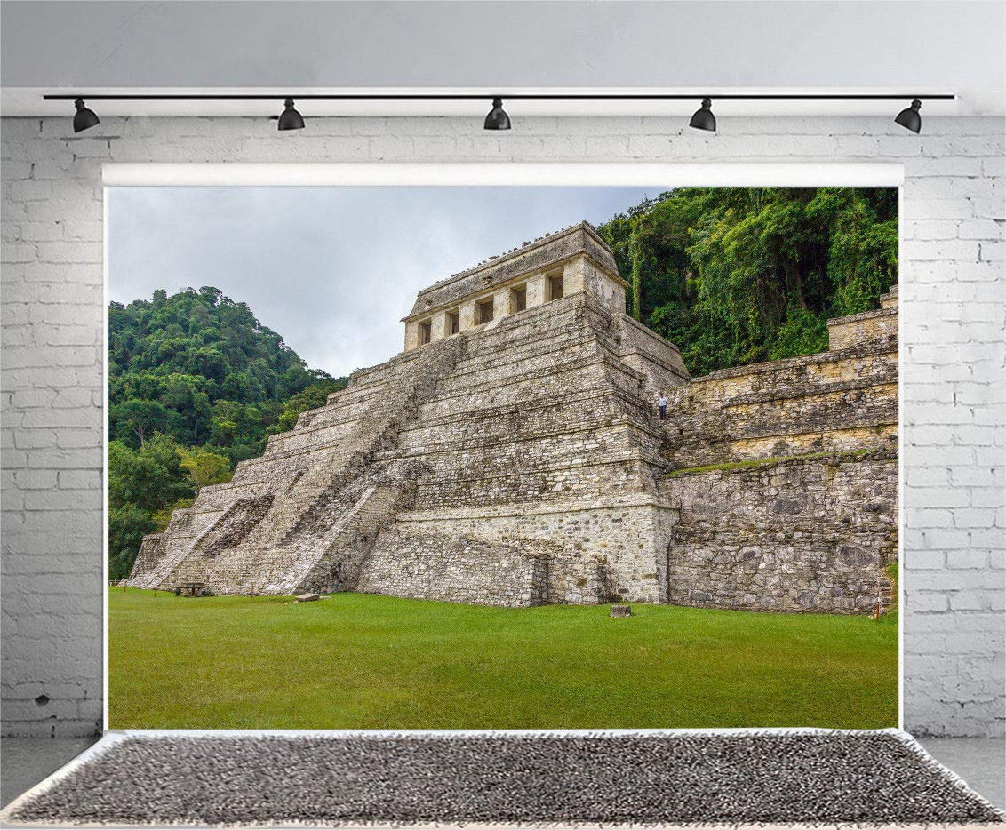 FidgetFidget 7x5フィート ビニール写真背景 マヤピラミッド 写真撮影用背景 スタジオ小道具   B07M9BLKRB