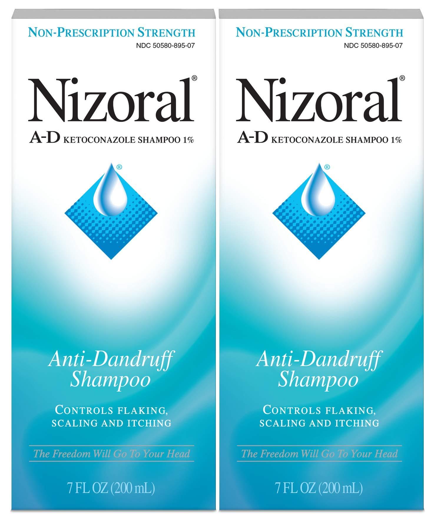Nizoral A- D Anti-Dandruff Shampoo Value Pack, Blue, Fresh, 7 Fl Oz (Pack of 2)