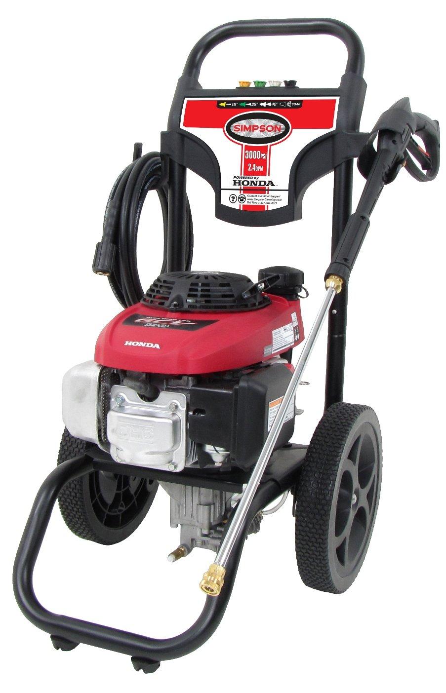 Captivating Amazon.com : Simpson MSV3024 2.4 GPM 3000 PSI 4 Cy Gas Power Pressure Washer  W/Honda Engine : Garden U0026 Outdoor