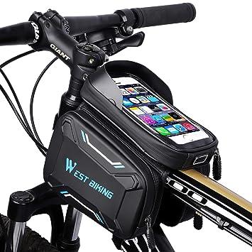 """Fahrrad MTB Rahmentasche Handytasche Rahmen Tasche Rohr Tasche Für 5,5 /"""" Handy"""