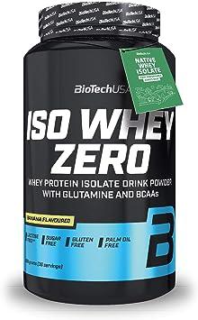 BioTech Whey Zero Lactose Free - Proteínas en polvo, sabor plátano, sin lactosa - 908 gr