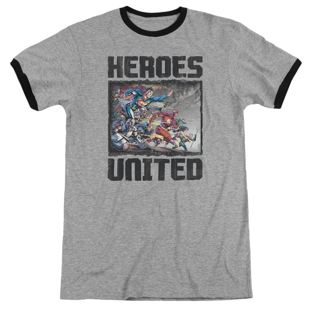 Trevco Men's JLA Justice League Simple Wonder Adult T-Shirt