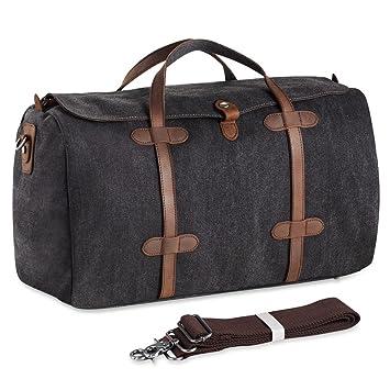 e6638e5e862c8 Weekender Vintage Segeltuch Canvas Leder Unisex Handgepäck Reisetasche  Sporttasche