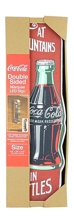 Coca-Cola Reproducción Vintage Publicidad Sign - Pilas LED ...