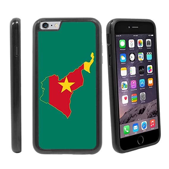 bb2f1acbf2942 Amazon.com   Map and National Flag of Cameroon  for Apple iPhone 6 ...