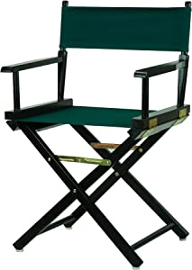 "Casual Home 18"" Director's Chair Black Frame with Hunter Green Canvas"