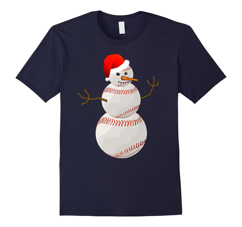 Christmas Baseball Shirt - Baseball Snowman Christmas Tee-ANZ