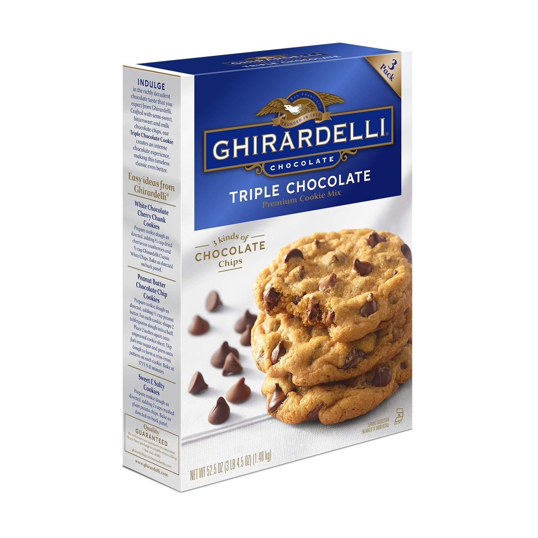 Ghirardelli Triple Chocolate Cookie Mix 52 5 Oz Grocery Gourmet Food