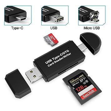 Lector de Tarjetas USB 3.0, Lector de Tarjetas Gvoo SD de 5 ...