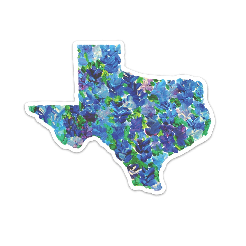 Texas Bluebonnets Bumper Sticker Texas Decal Bluebonnet Bumper Sticker Cooler Sticker Water Bottle Decal Texas Laptop Sticker Texas Sticker