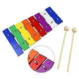 Tera 8 NotePercussion Rhythm Xylophone Glockenspiel Music Instrument Enlighten Toy for Baby Children Kids