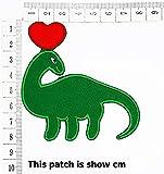 Green Dinosaur Apatosaurus Animal Dinosaur with Red