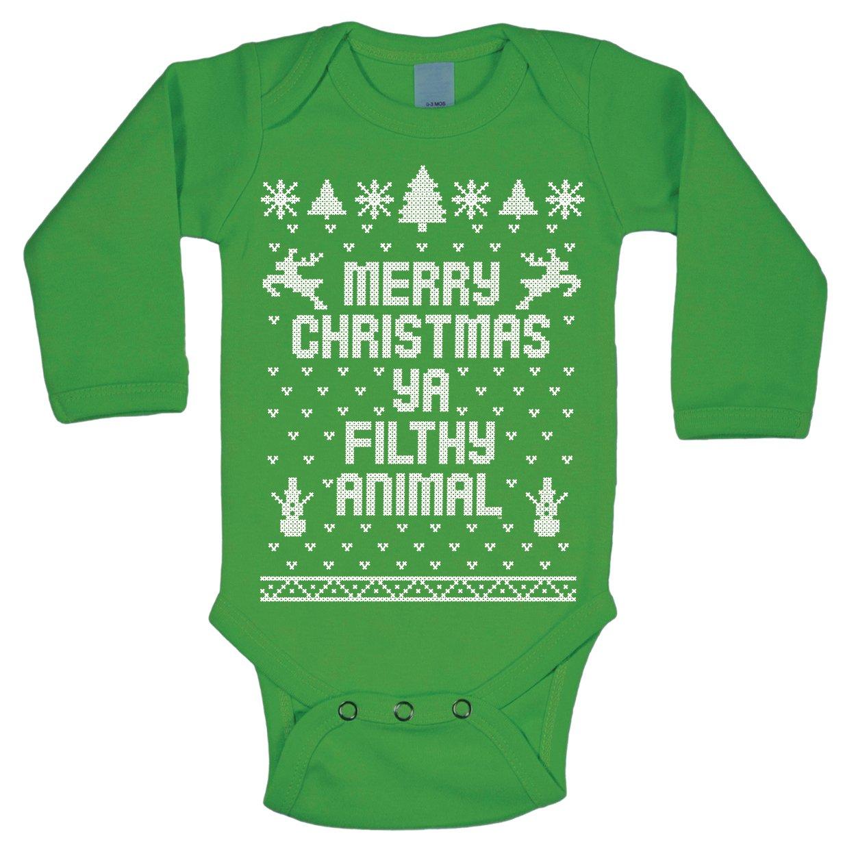Amazon.com: Merry Christmas Ya Filthy Animal Ugly Christmas ...