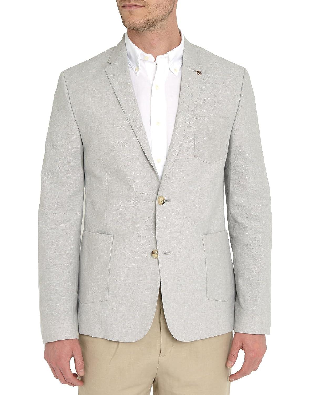 BEN SHERMAN - Casual Jackets - Men - Natural 2-Buttons Cotton Linen Jacket for men