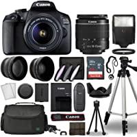 Canon EOS 2000D / Rebel T7 Digital SLR Camera Body w/Canon EF-S 18-55mm f/3.5-5.6 Lens 3 Lens DSLR Kit Bundled with…