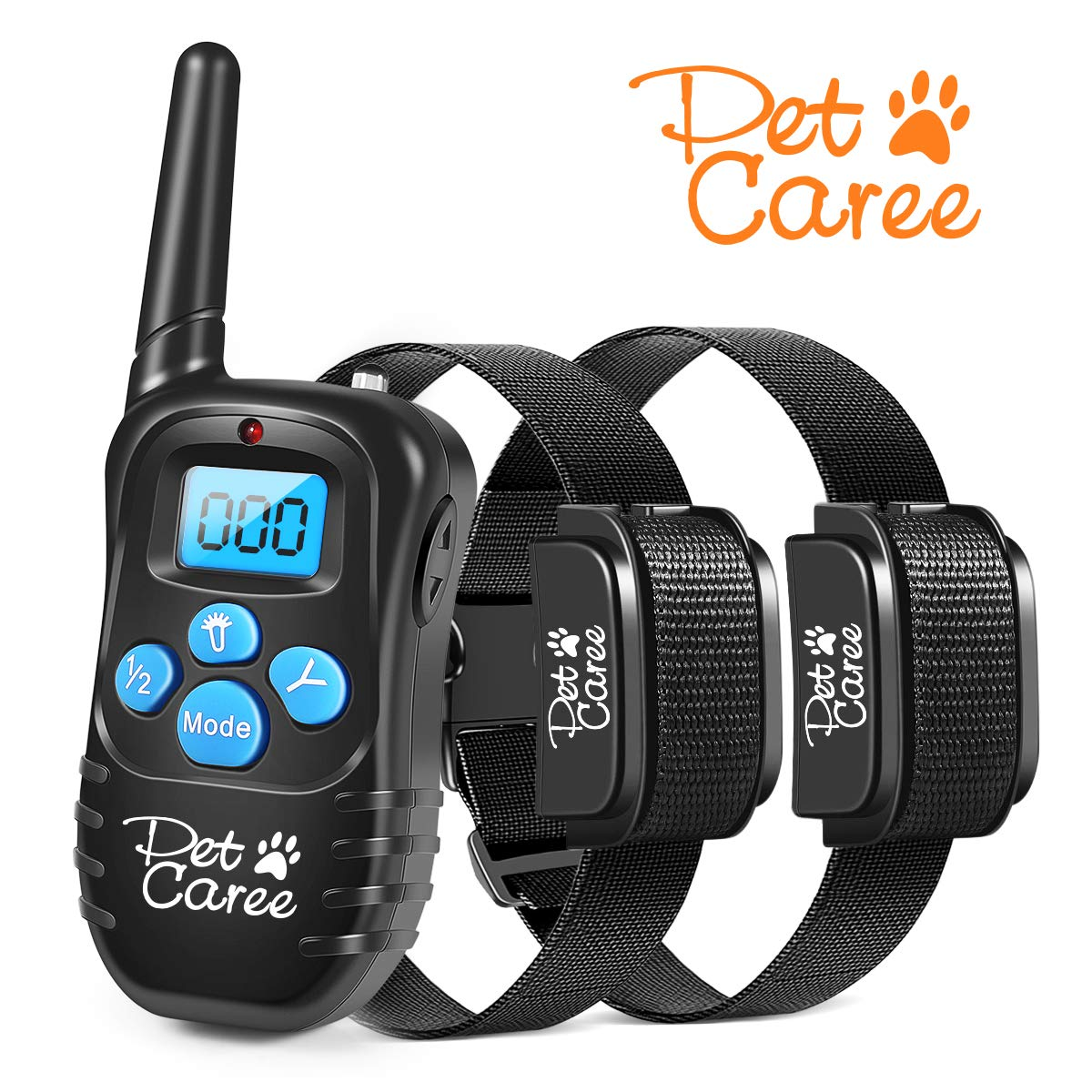 JaneSame Dog Training Collar Rechargeable and Rainproof 330 yd Remote Dog Shock Collar with Beep, Vibra and Shock Electronic Collar