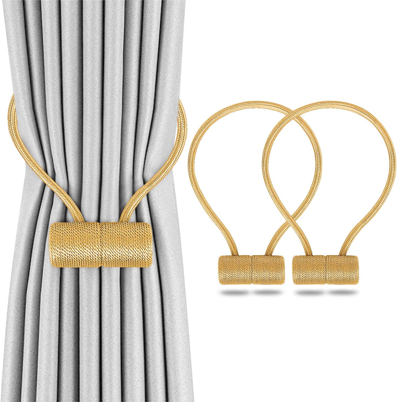 2pcs Home Magnetic Curtain Tiebacks Holdbacks Buckle Clip Tie Backs Holder C