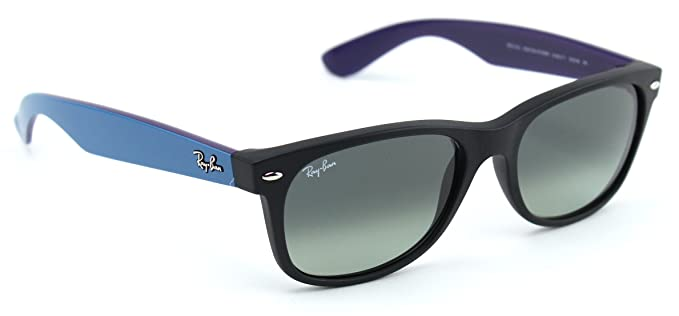 ae48feb80 Image Unavailable. Image not available for. Color: Ray-Ban RB2132 618371  Wayfarer Matte Black / Dark Gray Gradient Lens 55mm