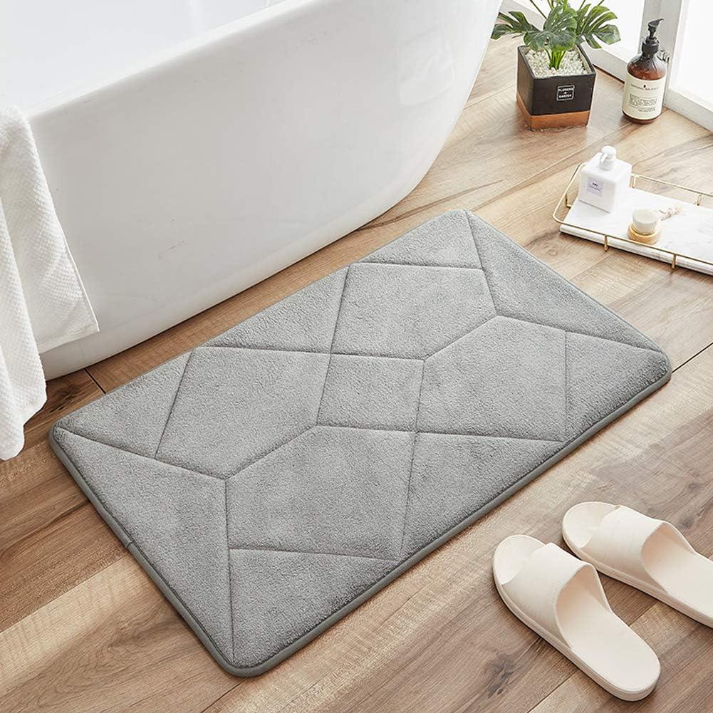 BYD Bath Rug Memory Foam Bathroom Mats 31.5/'/'x19.7/'/' Non Slip Absorbent Kitchen Entry Floor Rug Carpet
