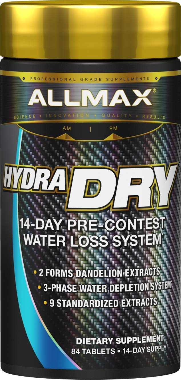 ALLMAX Nutrition HydraDry, 14-Day Pre-Contest Water Loss System, 84 Tablets