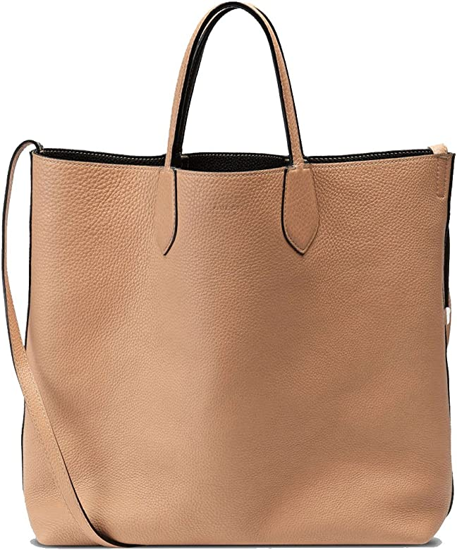 bbb57c40e268 Gucci Ramble Reversible Leather Shopping Tote Bag with Shoulder Strap  370823 1071 Black/Beige