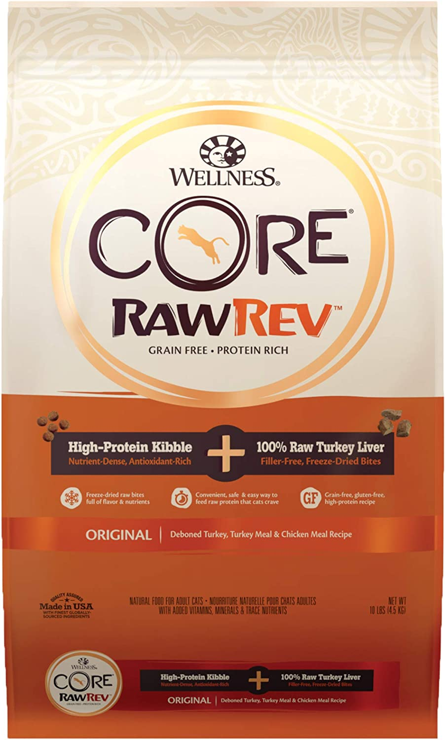 WELLNESS CORE Rawrev Original Deboned Turkey, Meal & Chicken Meal Recipe, 10 lb Bag