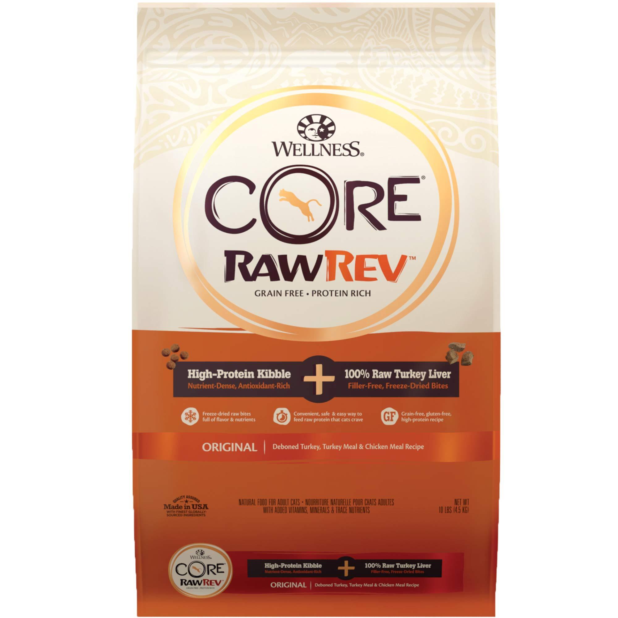 WELLNESS CORE Rawrev Original Deboned Turkey, Meal & Chicken Meal Recipe, 10 lb Bag by WELLNESS CORE