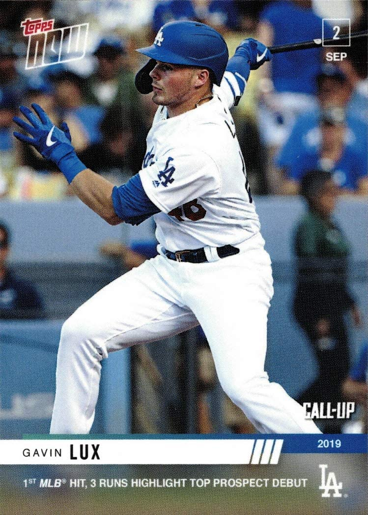 2019 Topps Now Baseball #787 Gavin Lux Pre-Rookie Card Dodgers - 1st Official Topps Now Card - Only 1,747 made!