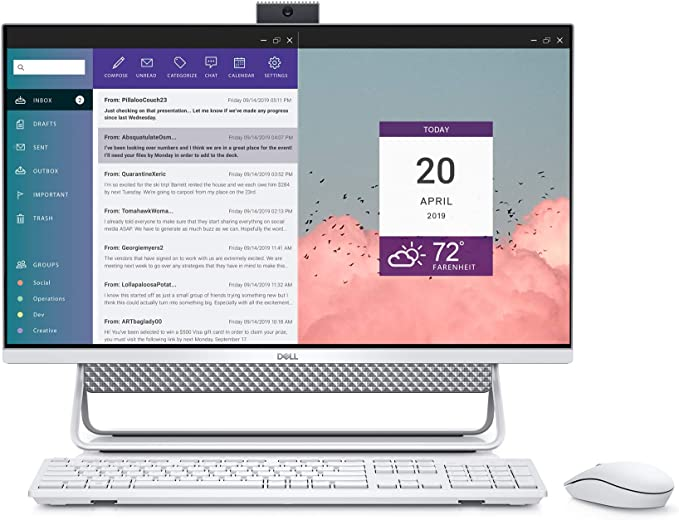 Dell Inspiron 7700 AIO, 27-inch FHD Infinity Touch All in One - Intel Core i7-1165G7, 12GB 2666MHz DDR4 RAM, 1TB HDD + 256GB SSD, Iris XE Graphics, Windows 10 Home - Silver (Latest Model) | Amazon