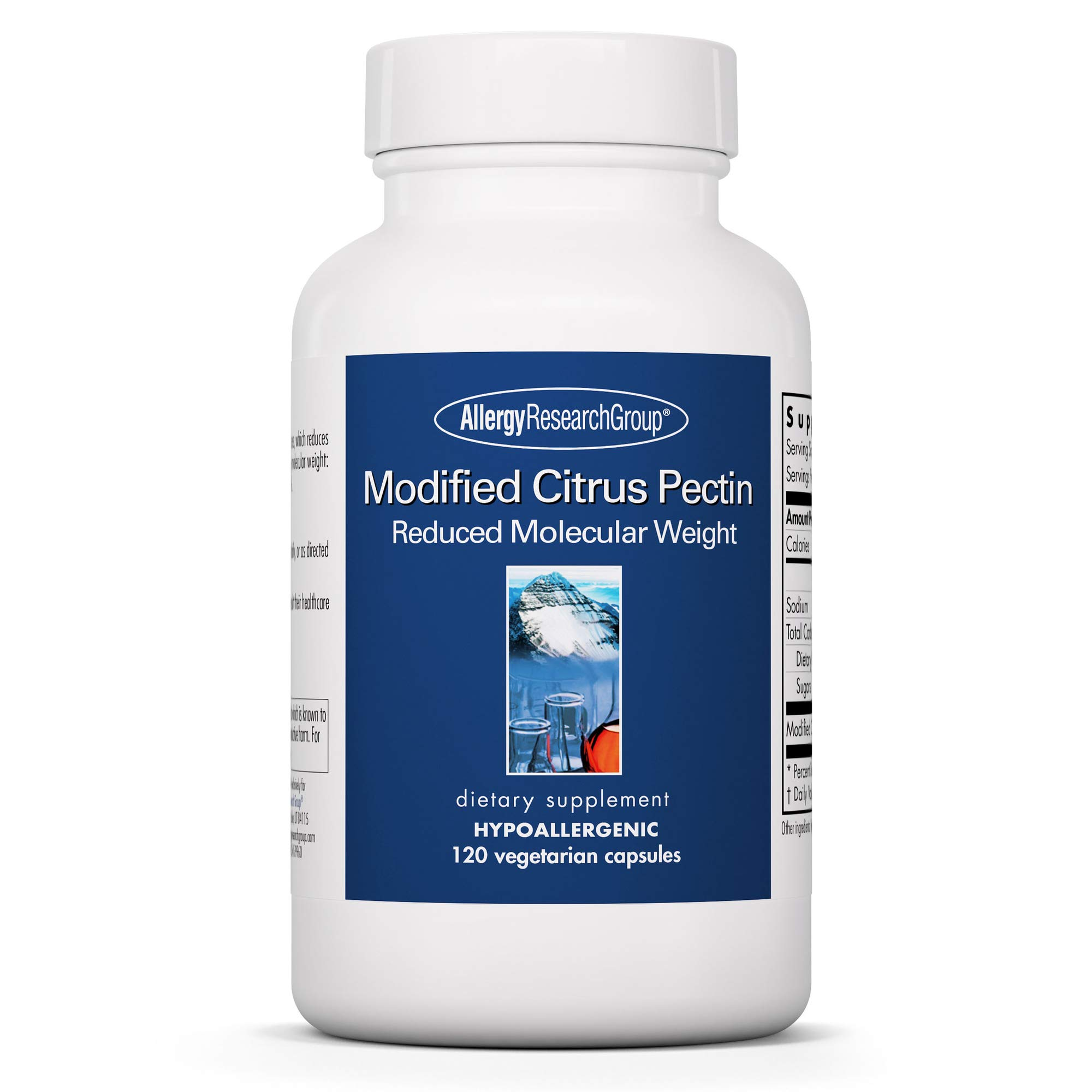 Allergy Research Group - Modified Citrus Pectin - Low Molecular Weight - Cleansing - 120 Vegetarian Capsules