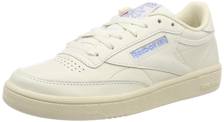 Reebok Club C 85, Zapatillas de Gimnasia para Mujer 39 EU|Marfil (Vintage-chalk/Paper White/Athletic Blue/Excellent Red 0)